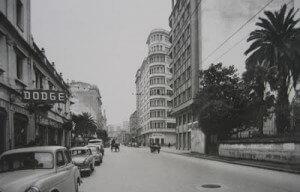 Calle Juan Flórez en la década de los sesenta.
